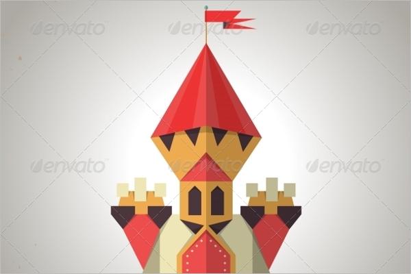 Geometric Castle Pattern