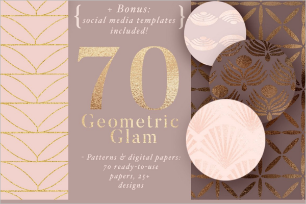 Geometric Glam Pattern