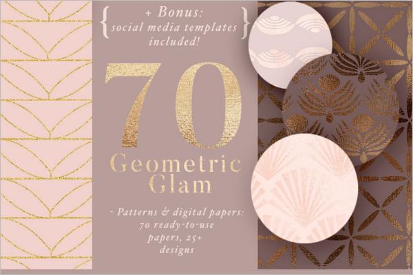 Geometric Glam Pattern
