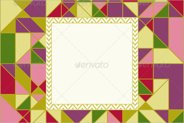 Geometric Pattern Card