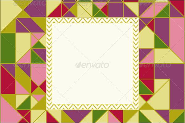 Geometric Pattern Card