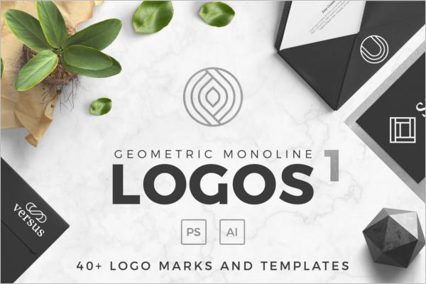 Geometric Photoshop Psd Logo