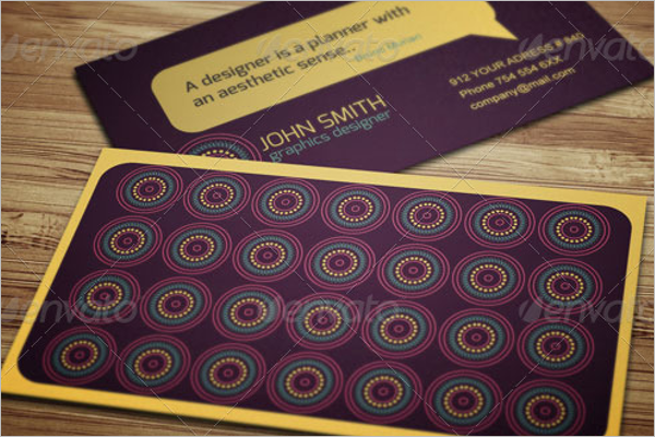 Geometrical Pattern Business Card
