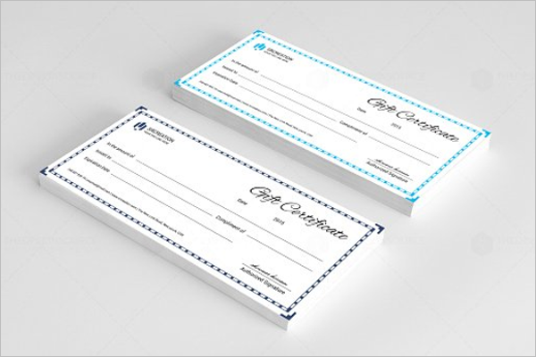 Gift Business Certificate Template