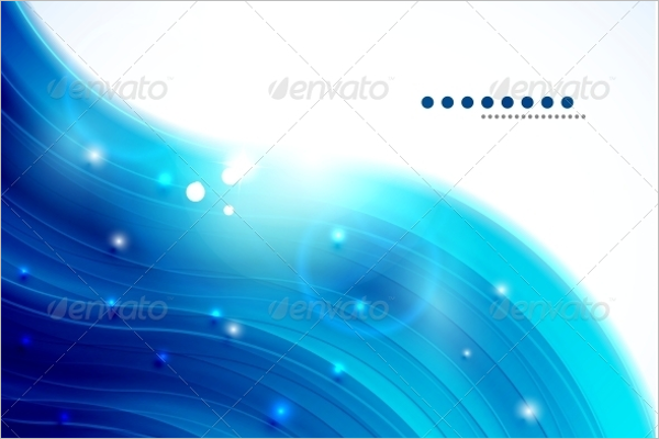 Glitter Blue Wave Background