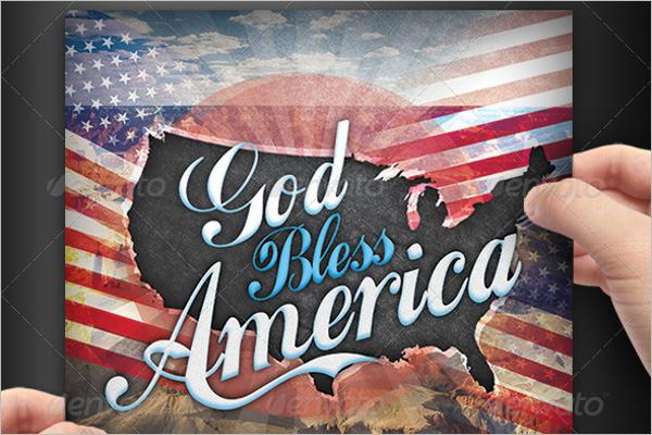 God Bless America Business Card