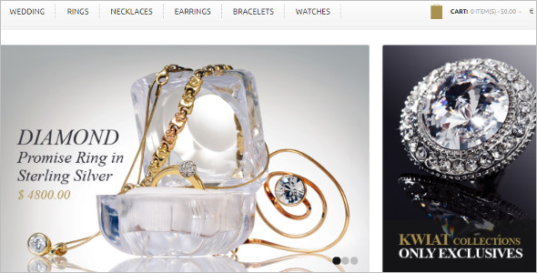 Gold & Diamonds OpenCart Template