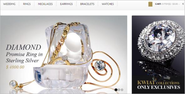 Gold & Diamonds OpenCart Template