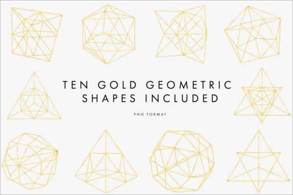 Gold Geometric Pattern Design