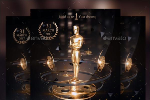 Golden Awards Flyer Photoshop