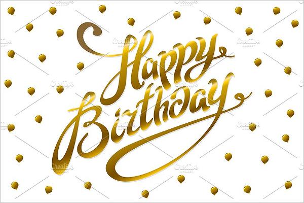 Golden Birthday Poster Template