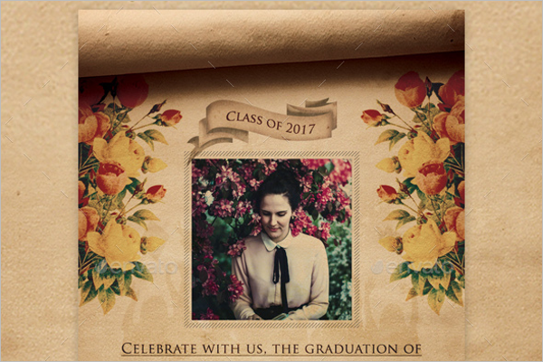 Graduation Invitation Flyer Design