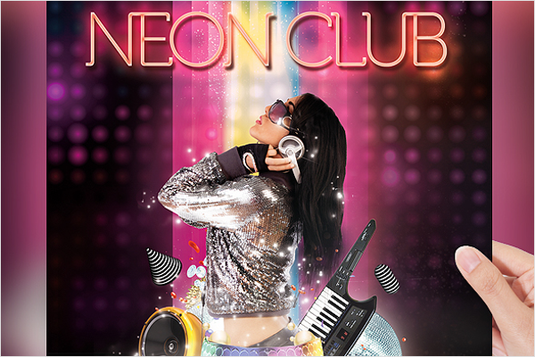 Graphic Disco Flyer Template