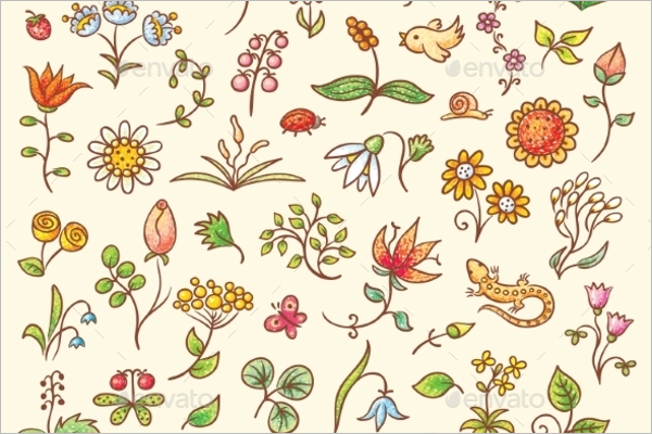 Graphic Floral Element Design