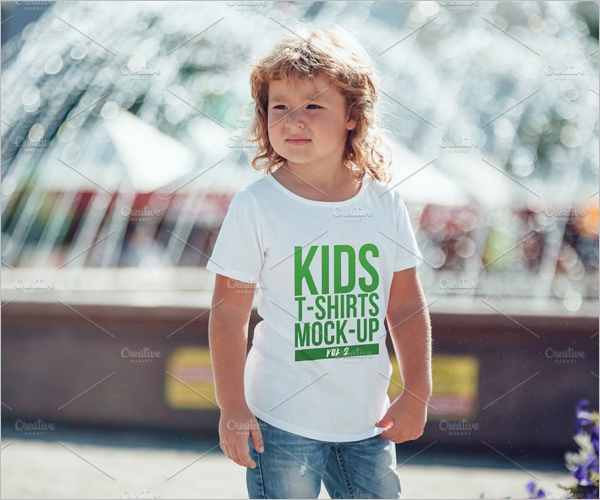 Graphic Kids T-Shirt Mock-Up Design