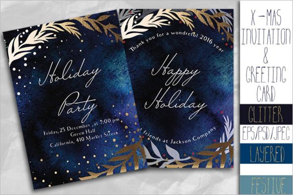 GraphicalX-mas Greeting Card Design