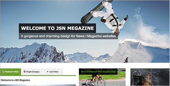 Great Magazine Joomla Template