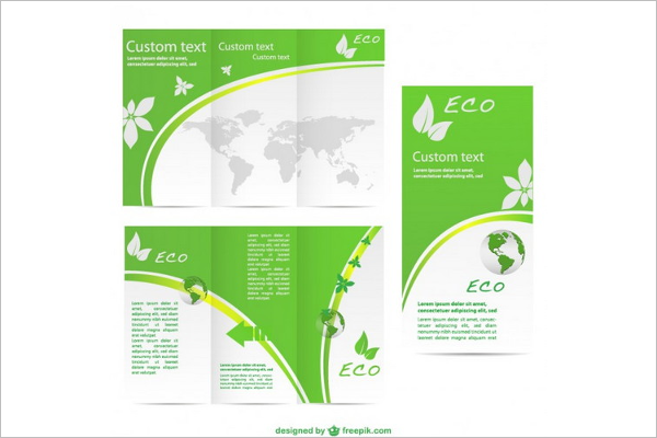 Green Brochure PSD Design