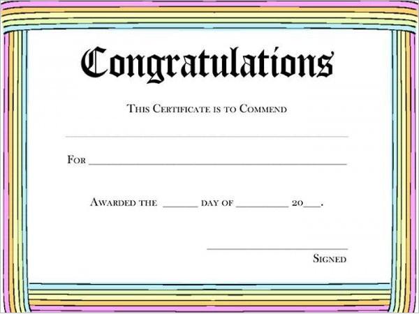 Greeting Certificate Template