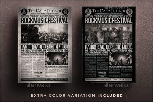 Grunge Newspaper Flyer Template