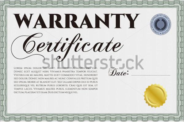 Warranty certificate templates free premium samples creative guarantee certificate template yelopaper Choice Image