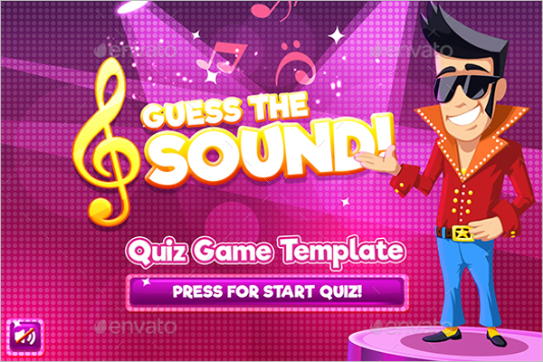 Guess the Sound Quiz Game Photoshop Logo