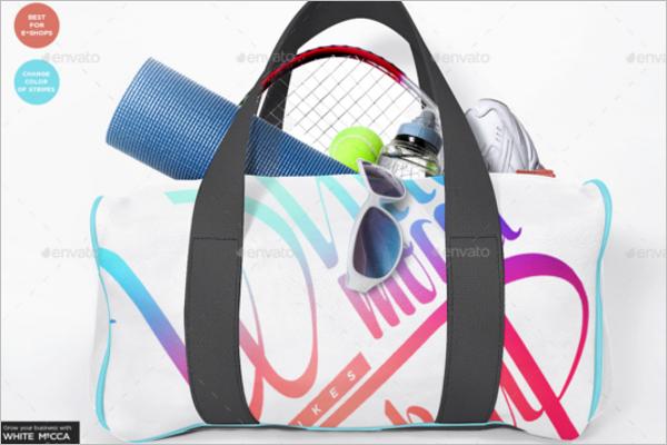 Gym Bag Design PSD