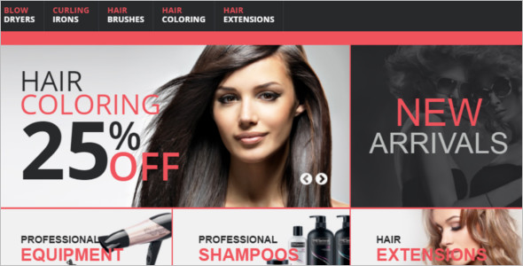 Hair Care Store OpenCart Template