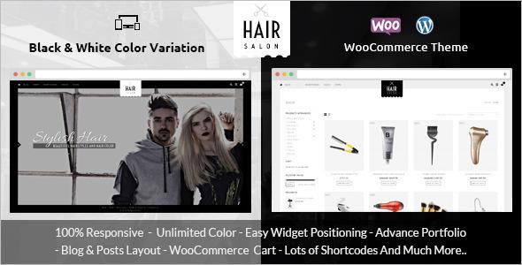 Hair Salon E-commerce WooCommerce Theme