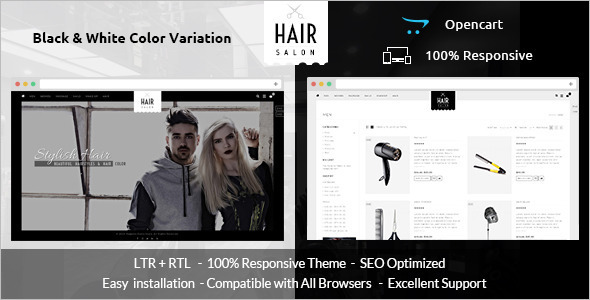 Hair Salon Opencart Theme