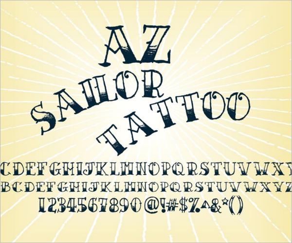 HandDrawn Sailor Tattoo Design