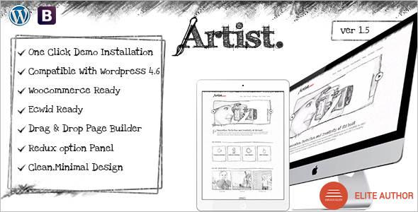 Handcraft Sketch PSD Template
