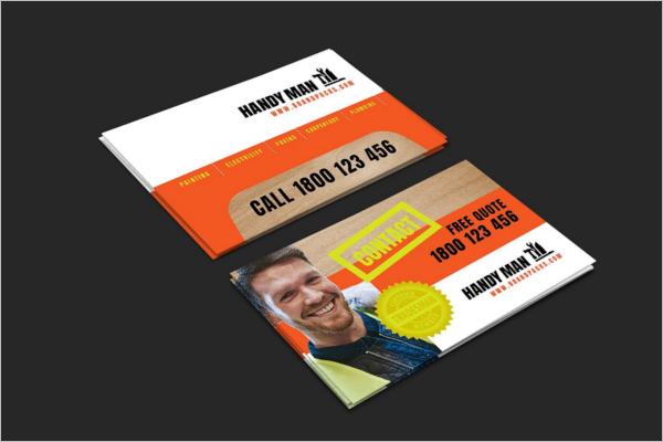 Handyman PSD Business Card
