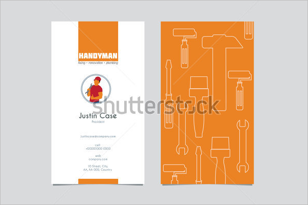 Handyman contractor Business Card