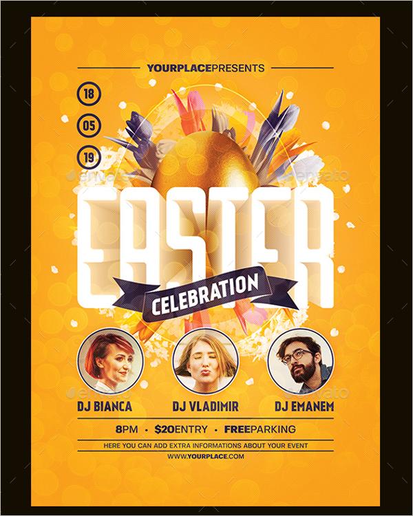 Happy Easter Poster Design