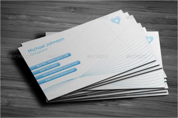 Health Care Business Card Design