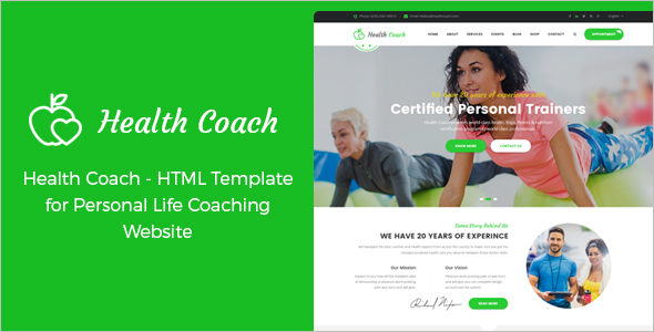 Health Coach HTML Template
