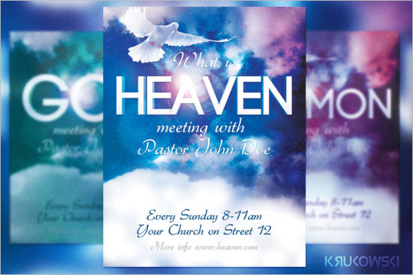 Heaven Church Flyer Photoshop Design
