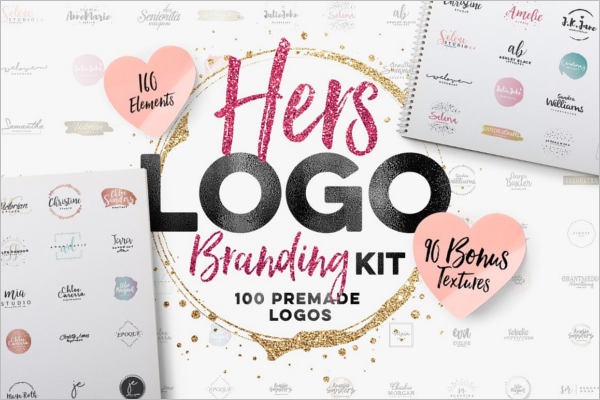 Hers Photoshop Logo Template