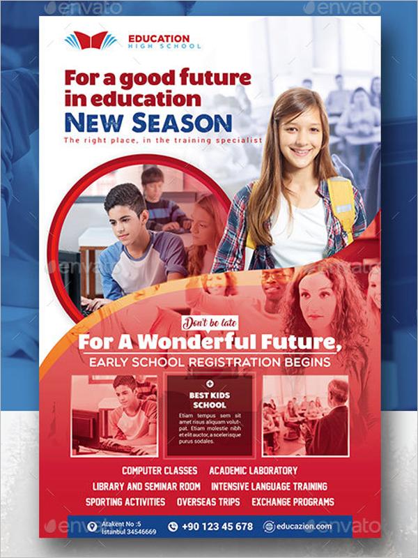 High School Poster Template