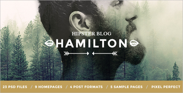 Hipster Blog PSD Template