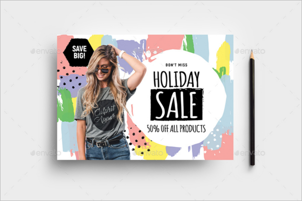 Holiday Sale Poster Design