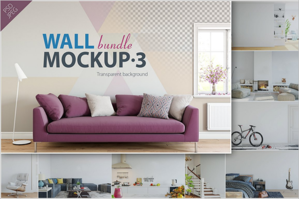 Home Wall Mockup Logo