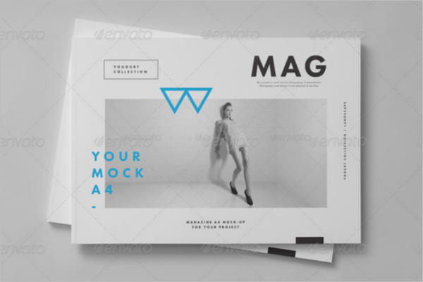 Horizontal Magazine Brochure Mock-up Design