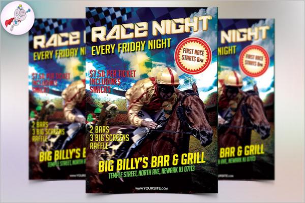 Horse Race Night Flyer