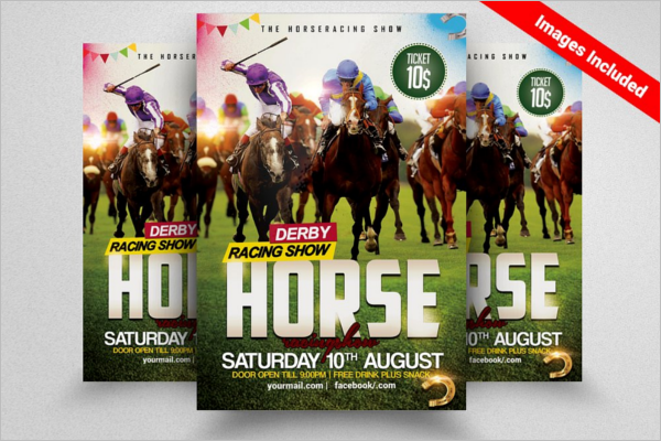 Horse Racing Flyers Template
