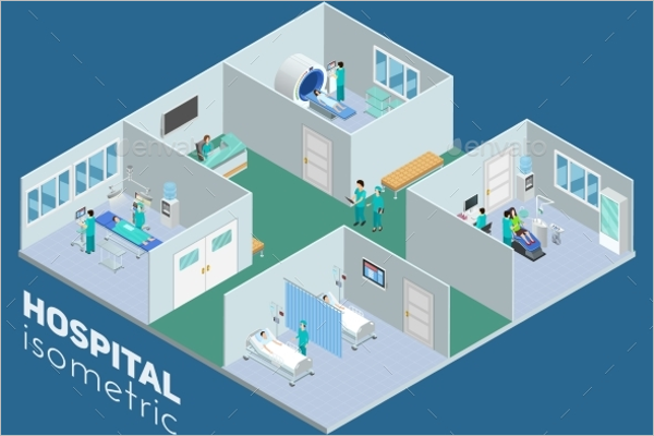 Hospital Interior View Poster