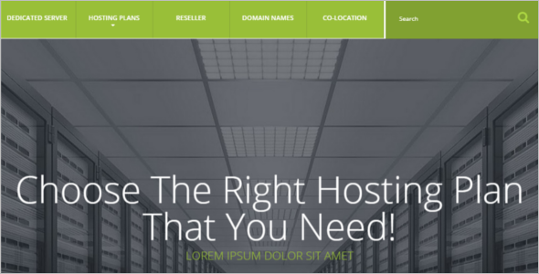 Hosting Provider OpenCart Template