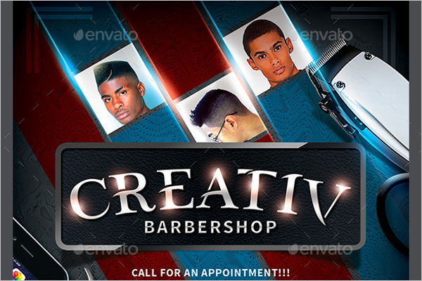 Hotpin Barber Flyer Design