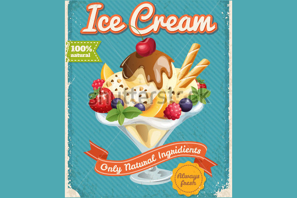Ice Cream Creative Poster